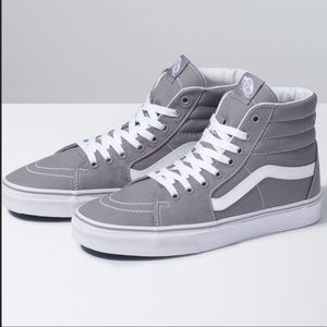 Vans SK8-Hi Top Gray/white Skateboard sneakers